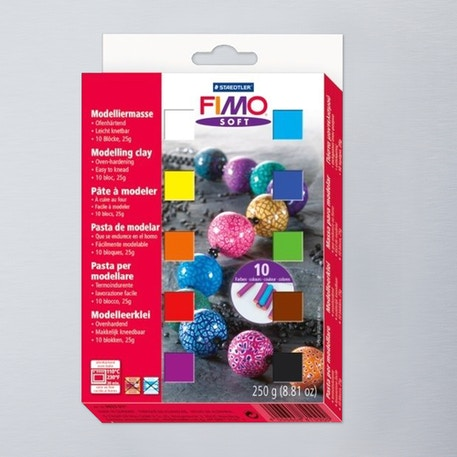 Staedtler Fimo Soft Modelling Clay Half Block Set of 10 | Modelling Clay | Cass Art