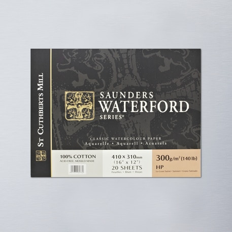 Saunders Waterford Block 300gsm Hot 16 x 12 inches | Bockingford Watercolour Paper | Cass Art
