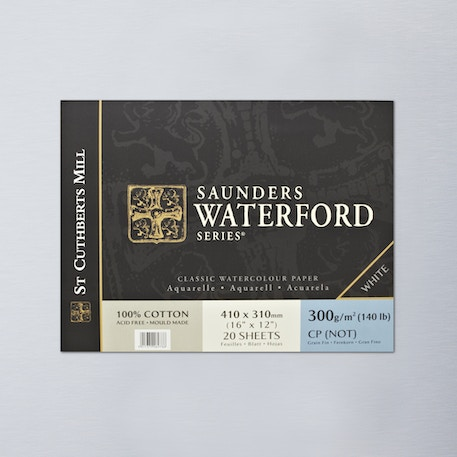 Saunders Waterford Block 300gsm Not 16 x 12 inches | Artist Watercolour Papers | Cass Art