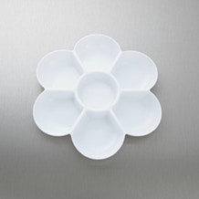 Jakar White Plastic Flower Shaped Palette