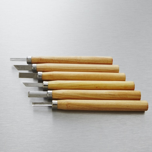 Jakar Wood Carving Mini Chisel Set with 6 Assorted Steel Blades | Cass Art