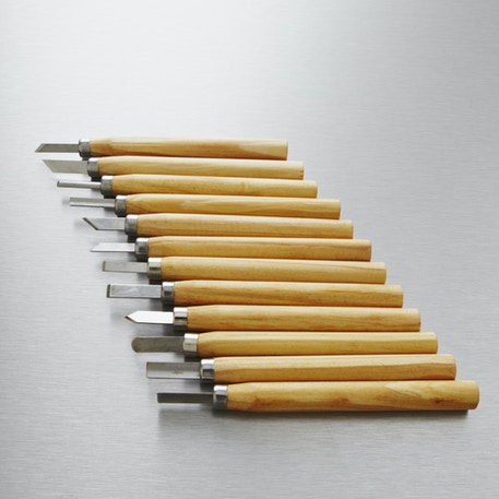 Jakar Wood Carving Mini Chisel Set with 12 Assorted Steel Blades | Cass Art