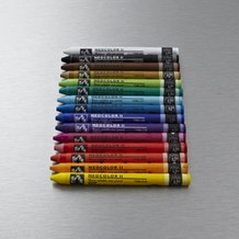 Caran D'ache Neocolor II Aquarelle Paint Crayons Tin Set of 15 Assorted Colours