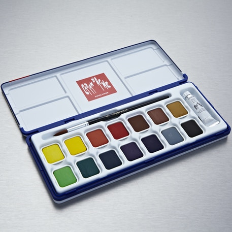 Caran D'ache Gouache Studio Box Set of 15 | Cass Art