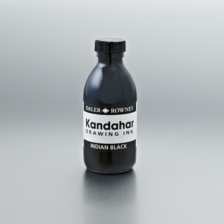 Daler Rowney Kandahar Drawing Ink 175ml Black | Cass Art