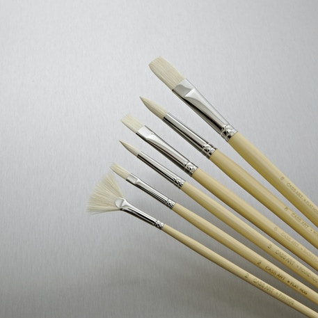 Cass Art Hog Set of 6 | Artist Paint Brushes | Cass Art