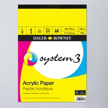 Daler Rowney System 3 Acrylic Pad 230gsm 20 Sheets