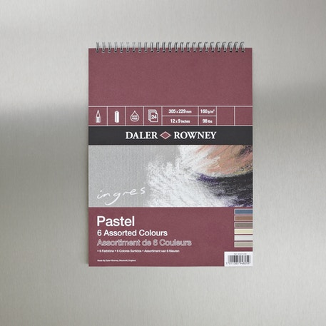 Daler Rowney Ingres Pastel Spiral Pad 150gsm 12 x 9 inches | Cass Art