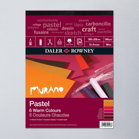 Daler Rowney Murano Fine Art Paper Pad 160gsm 30 Sheets Warm Colours | Cass Art