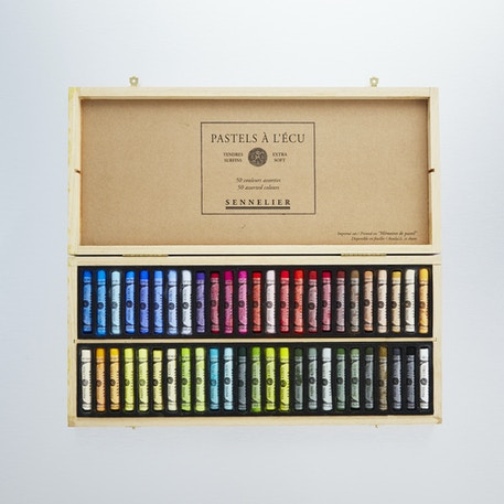 Sennelier Soft Pastel Classic Wooden Box Set of 50 | Cass Art