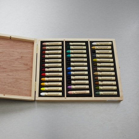 Sennelier Oil Pastel Colours in Wooden Box Set of 36 | Cass Art