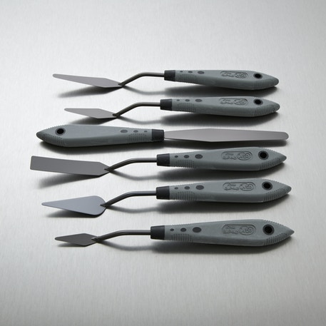 RGM Pro-Grip Palette Knife Set of 6 | Artist Palette Knives | Cass Art