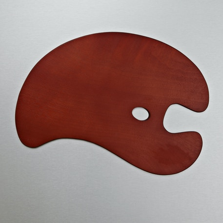 Loxley Wooden Palettes Kidney Shaped | Cass Art