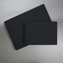 Seawhite Display Book 220gsm 40 Sheets (Black Card)