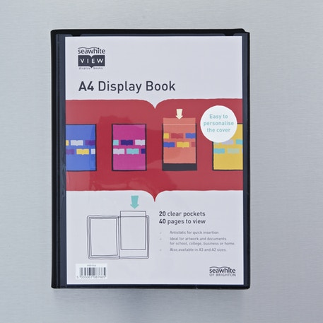 Seawhite Display Book with 20 Clear Pockets | Portfolios | Cass Art