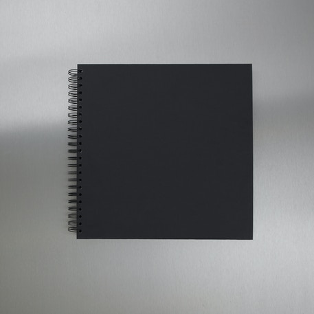 Seawhite Square Display Book 220gsm 40 Sheets 300 x 300mm (Black Card) | Cass Art