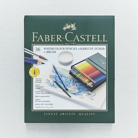 Faber-Castell Albrecht Durer Artists' Watercolour Pencils with Brush in Gift Box Set of 36 | Cass Art