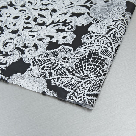 Decopatch Paper Black White Flowers 30 x 40cm | Cass Art