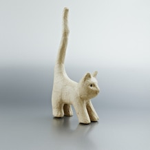 Decopatch Small Papier Mache Animal Cat With Long Tail