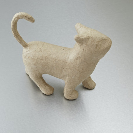 Decopatch Small Papier Mache Animal Walking Cat | Cass Art