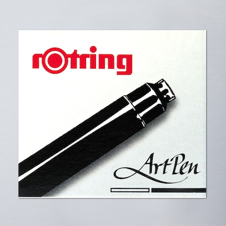 Rotring Artpen Ink Short Cartridge Set of 6 Black | Cass Art