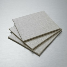 Pebeo Natural Linen Canvas Board 10 x 10cm Set of 3