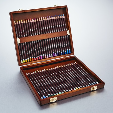 Derwent Coloursoft Pencils Wooden Box Set of 48 | Cass Art