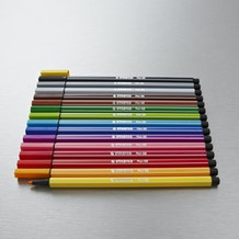 Stabilo Pen 68 in Metal Tin Set of 15 Assorted Colours