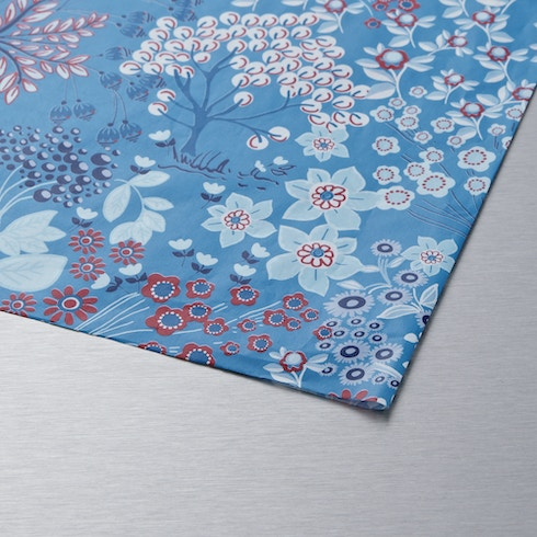 Decopatch Paper Blue Background with flowers 30 x 40cm | Cass Art