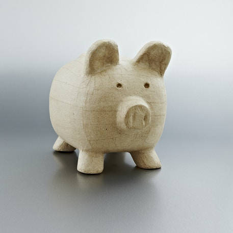 Decopatch Medium Papier Mache Animal Big Piggy bank | Cass Art