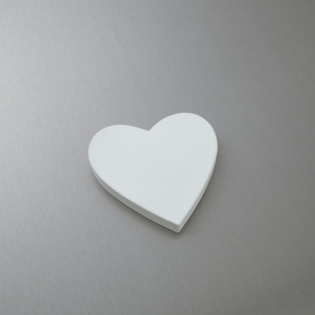 Decopatch Papier Mache Shapes White Heart Full Classic Shape | Cass Art