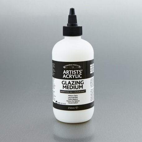 Winsor & Newton Artists' Acrylic Glazing Medium 250ml | Professional Acrylic Mediums | Cass Art