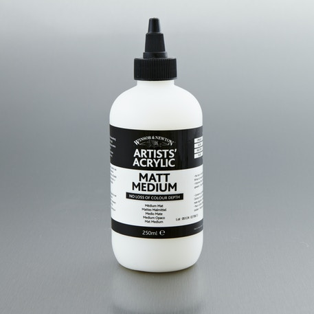 Winsor & Newton Artists' Acrylic Gloss Medium 250ml | Professional Acrylic Mediums | Cass Art