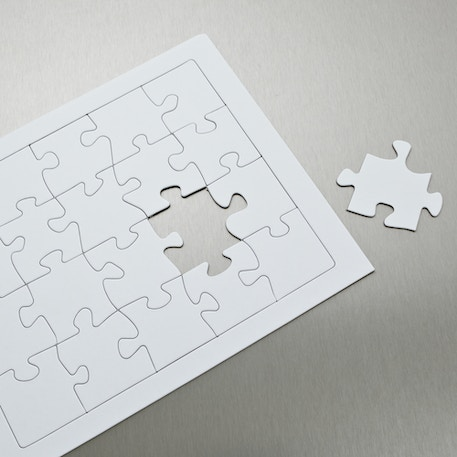 Craft Planet Make a Puzzle Two Jigsaw Blanks of 40 pieces | Cass Art