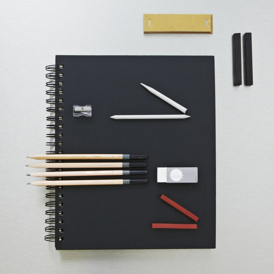 Daler rowney simply wirebound sketchbook sketching pencil set