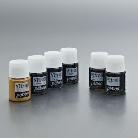 Pebeo Vitrail Glass Paint Discovery Pack of 6 20ml   Cass Art
