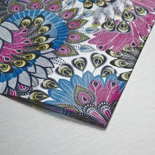 Decopatch Paper Peacock feather pattern 30 x 40cm