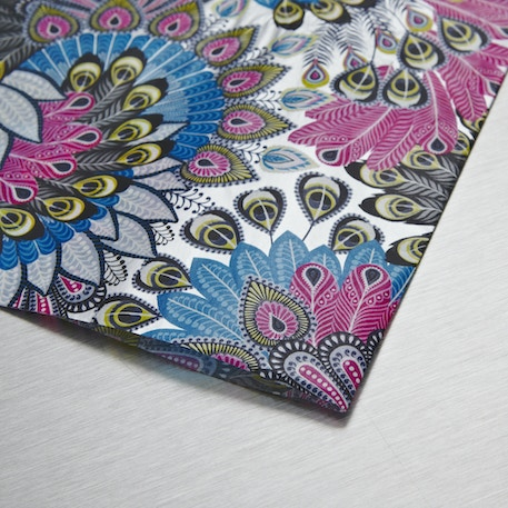 Decopatch Paper Peacock feather pattern 30 x 40cm | Cass Art