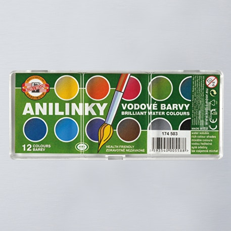 Koh-i-noor Anilinky Brilliant Watercolours Set of 12 | Cass Art