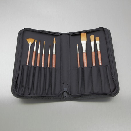 Synthetic Brush Collection Set of 10 | Artist Brushes | Cass Art