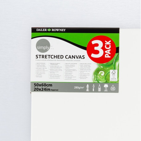 Daler Rowney Simply Canvas Triple Pack | Artist Canvas | Cass Art