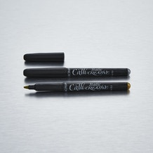 Manuscript Callicreative Metallic Italic Marker Pen Gold and Silver Pack of 2