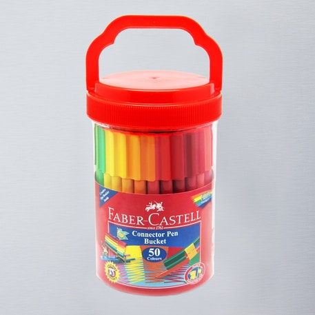 Faber-Castell Connector Pen Bucket Set of 50 | Cass Art