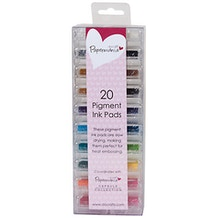 Papermania Mini Ink Pads Pigment Pack of 20