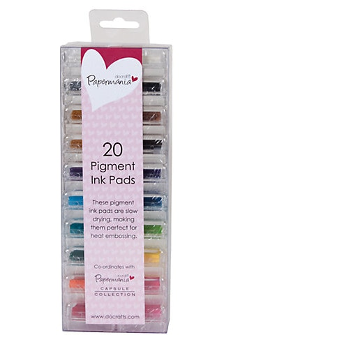 Papermania Mini Ink Pads Pigment Pack of 20 | Cass Art