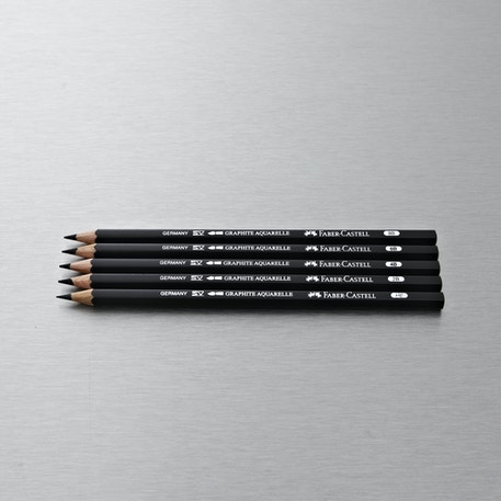 Faber-Castell Graphite Aquarelle Pack of 5 | Cass Art