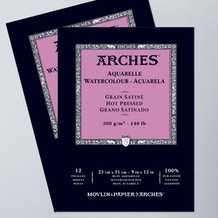 Arches Aquarelle Glued Watercolour Pad 300gsm HOT