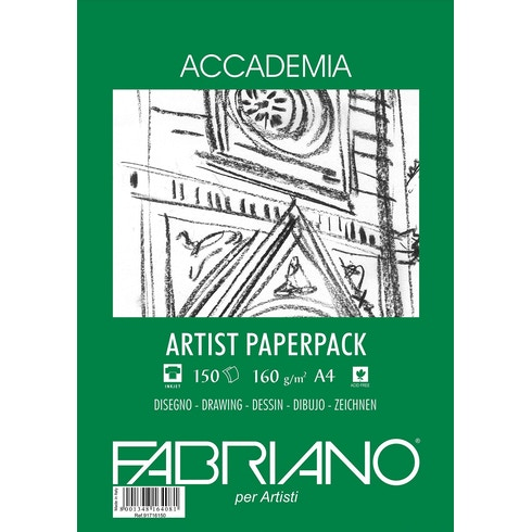 Fabriano Accademia Artist Pack 160gsm 150 sheets A4 | Cass Art
