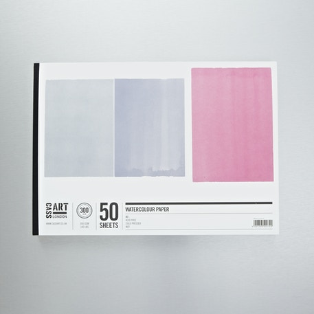 Cass Art Jumbo Gummed Watercolour Pad 300gsm 50 sheets | Cass Art