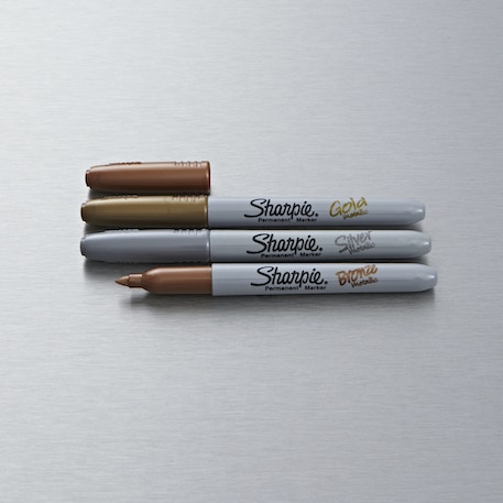 Sharpie Fine Permanent Marker Metallic Set of 3 | Cass Art